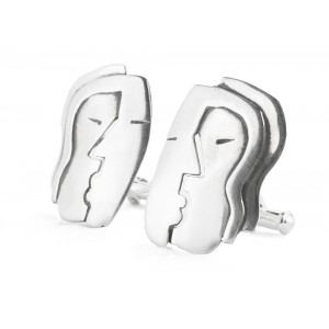 "Rebajes ""the Kiss"" Silver Cufflinks"