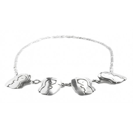 "Rebajes ""the Kiss"" Silver Necklace"