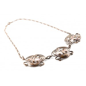 Rebajes Brazilian Mask Copper Necklace