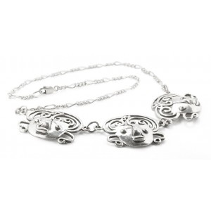 Rebajes Brazilian Mask Silver Necklace