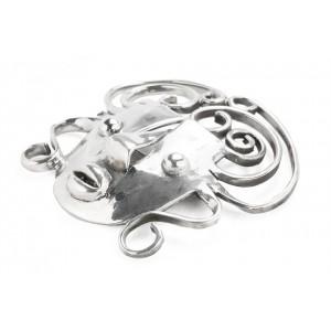 Rebajes Brazilian Mask Silver Pin