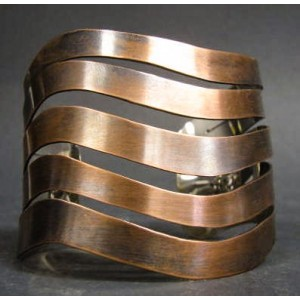 Rebajes Wavy Bands Copper Cuff