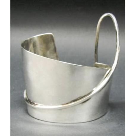 Rebajes Large Wave Silver Cuff