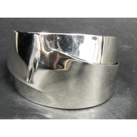 Rebajes Double Cut Silver Cuff