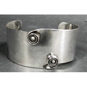Rebajes Two Curls Silver Cuff