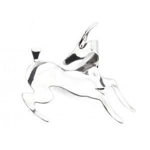 Rebajes Leaping Antelope Silver Pin