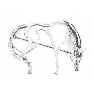ORB Wild Horse Silver Pin