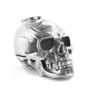 ORB Queen of Scots Skull Silver Pendant