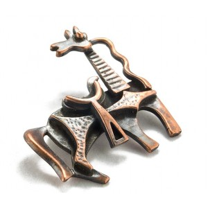 Rebajes Inquisitive Horse Copper Pin
