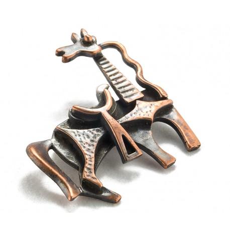 Rebajes Inquisitive Horse Copper Pin