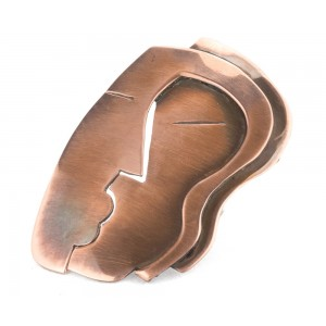 "Rebajes ""the Kiss"" Pin, Copper"