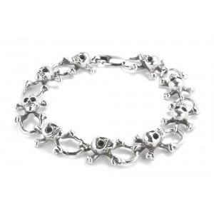 ORB Queen of Scots Skull Silver Bracelet