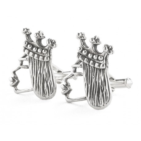 Rebajes Queen of Hearts Silver Cufflinks