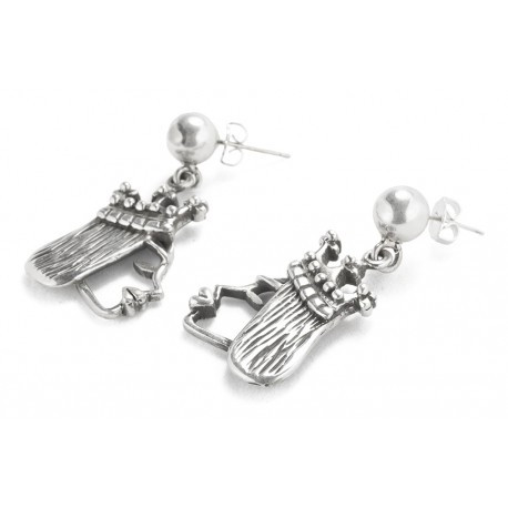 Rebajes Queen of Hearts Silver Earrings